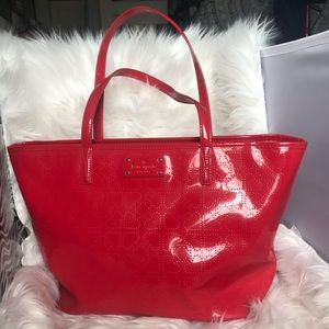 Kate Spade Red Heart Purse Tote